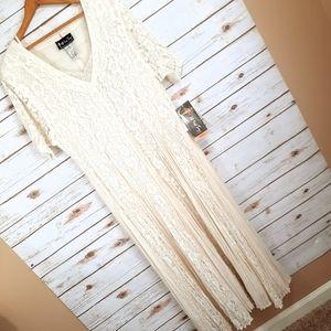VTG All That Jazz Romantic Boho Lace Maxi Dress